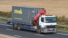 YX04 AVP M62 04-09-14 (panmanstan) Tags: truck wagon mercedes motorway yorkshire transport lorry commercial vehicle freight sandholme m62 haulage rigid atego
