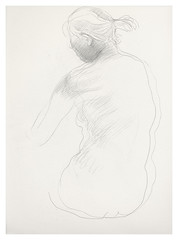2003? 0728-15-s Drawing nude (Masayo Nabeshima) Tags: pencil paper nude drawing dessin study