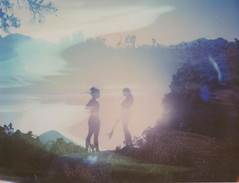 (Ixchel Lara) Tags: film polaroid doubleexposure joshuatree 180 expired