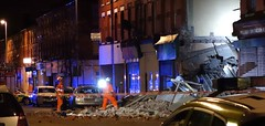 Merseyside Fire & Rescue Dog Section search collapsed building in King St Wallasey (sab89) Tags: rescue dog west building st fire north police ambulance nhs collapse service section wallasey wirral merseyside nht kig