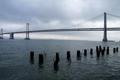 Gray day in San Francisco (louisraphael) Tags: street bridge building fog ferry architecture photography photo san francisco photos foggy bridges