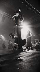 The Champion (whitesepulchre) Tags: blackandwhite monochrome wrestling spotlight winner schwarzweiss dominance bnw cellphonecamera htc blancetnoir