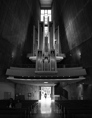 St. Mary's Cathedral (schromann) Tags: church japan architecture concrete japanese tokyo interior kirche organ expressionist orgel beton kenzo brut tange 201409japan