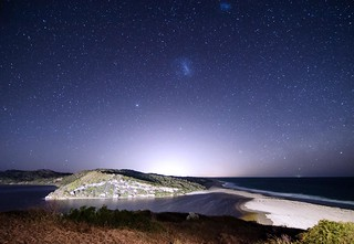 Our Galactic Neighbours above the glow of Perth, Australia