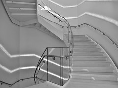 DSCF6911 (Drew Z) Tags: blackandwhite bw wisconsin architecture stairs fuji center stairway madison staircase fujifilm wi overture x10 madison365