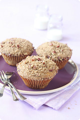 Pecan Big-Muffins with Streusel Topping (iuda) Tags: food cakes cake breakfast dessert muffins baking milk big purple sweet pastel cinnamon peach desserts muffin pecan streusel