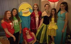 Group Photo With the Little Mermaid (m.gifford) Tags: halloween princess ella hazel maryn disneyprincess oct31 halloween2014