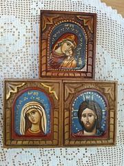 minijature (pravoslavne ikone Lana Vojnovic) Tags: icons isus ikone bogorodica gospod duborez hrist oslikana ikonopis