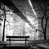 Fade to White (Sky Noir) Tags: bridge blackandwhite bw white bench fade skynoir