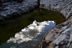 Gorropu e i suoi riflessi :) (Blue Sere) Tags: sardegna lake mountains nature clouds trekking reflections sardinia outdoor hiking natura canyon riflessi montagna laghetto escursionismo supramonte