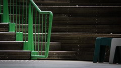 Lime Green Bannisters (Theen ... busy) Tags: brown green hub stairs concrete outside grey wooden samsung deck bannisters adelaide lime stools auditorium tactile indicators adelaideuniversity theen greenmetal