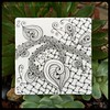 "Zentangle® Inspired Art : Weekly Challenge #193 TriTangle Trio, Huggins, Xyp : ""Spreading Gratitude"" (ha! designs) Tags: blackandwhite abstract art illustration pen pencil tile pattern drawing doodle trio tangle graphite huggins 2014 weeklychallenge zentangle xyp hadesigns hadesignszentangle divasweeklychallenge"