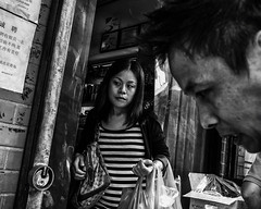 Philadelphia, 2014 (Alan Barr) Tags: street people blackandwhite bw philadelphia monochrome mono blackwhite candid streetphotography panasonic sp streetphoto 2014 gx7