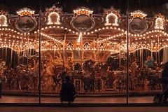 a little night music (SpatialK) Tags: ny brooklyn night children lights dumbo carousel 201411075953