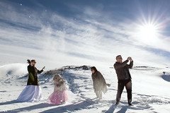 Hot snow (lioneltanzl) Tags: new wedding snow mountains photography zealand brides