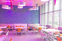 Private School Lunch Room (scarletizm) Tags: room architecture lunch lights school chairs design
