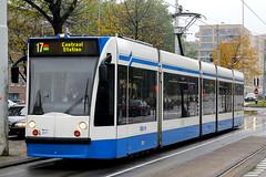 2071, Surinameplein, Amsterdam, October 17th 2015 (Suburban_Jogger) Tags: surinameplein amsterdam holland thenetherlands october 2016 autumn canon 60d 1855mm tram lightrail gvb siemens comnbino 2071 route217