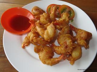 Tempura Prawns - The Crab Kitchen Kep Cambodia