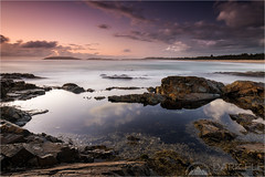 Morning Vigil (Darkelf Photography) Tags: coffs harbour newsouthwales nsw australia seascape landscape morning dawn sunrise clouds rocks shore coast pacific ocean reflections polariser filter canon 1635mm 5diii maciek gornisiewicz darkelf photography morningvigil 2016 longexposure