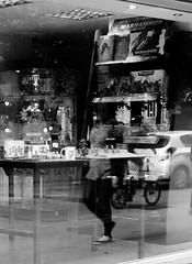 (immieHawks) Tags: reflection window woman bristol shop streetphotography