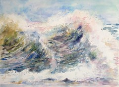 La mer N°10 (geneterre69) Tags: aquarell watercolor mer océan vagues