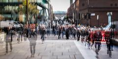 Overlapping People (Sean Batten) Tags: nikon df 35mm multipleexposures city urban streetphotography street london england uk abstract
