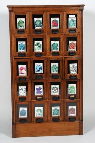 Oak 24 Drawer Tall Seed Cabinet ($1,176.00)