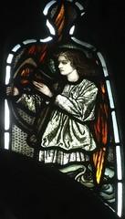 [45620] St Editha, Tamworth : Musician (Budby) Tags: tamworth staffordshire church window stainedglass preraphaelite
