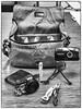 Whatsinmybag (nzcarl) Tags: camerabag sonyrx100 olympus stylus whatsinmybag ona blackandwhite