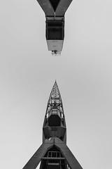 (davidecolombino) Tags: canon 6d monochrome blackandwhite blackandwhitephotography black white crane gru genova porto antico genoa italy abstract astratto geometry