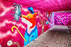 Graffiti De Pinte -1- (Jan 1147) Tags: graffiti muurschilderij streetart fietstunnel voetgangerstunnel florastraat depinte