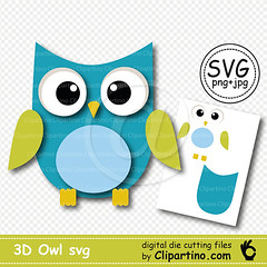 owl-3d-svg (tashaclipartino) Tags: owl svg vector commercial use clipart png image jpg