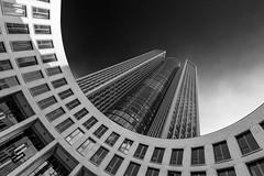 Monotower 185 (frank_w_aus_l) Tags: frankfurt main tower185 tower monochrome bw noiretblanc germany architecture blacksky dutchangle frankfurtammain hessen deutschland de nikon df nikkor brilliant