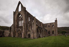 Tintern Abbey (technodean2000) Tags: tintern abbey wales cymru ruins wallpaper background nikon d3100 uk united kingdom great britain pwpartlycloudy day outdoor architecture building photo border skyline d610 manor colour saturation vibrancy green blue night church