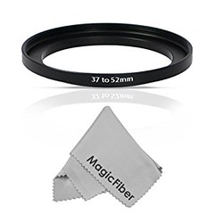 Goja 37-52mm Step-Up Adapter Ring (37mm Lens to 52mm Accessory) + Bonus Ultra Fine Microfiber Lens Cleaning Cloth (goodies2get2) Tags: amazoncom giftideas mostwishedfor toprated
