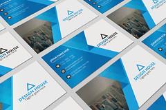 Corporate Business Card (akshor_1992) Tags: blue businesscard card clean color corporate creative design editable elegant letter letterhead modern pad print printready simple sleek stationery stylish