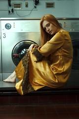 Natalie (sgladiate) Tags: preraphaelite gold dress fashion model ultimateshot