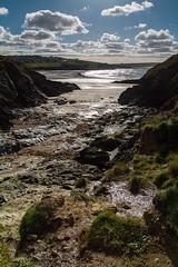Pentireglaze Haven (adiej62) Tags: sea sky beach rocks ocean sand blue green beautiful coast walking cornwall polzeath uk seaside coastline clouds shoreline rockpools