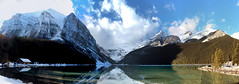 Lake Louise, Banff National park, Alberta, Canada - ICE(5)1351-66 (photos by Bob V) Tags: mountains rockies rockymountains canadianrockies alberta albertacanada banff banffpark banffnationalpark banffalberta banffalbertacanada panorama mountainpanorama lakelouise reflection reflectiononwater