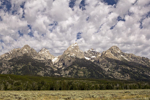 Grand Tetons from highway