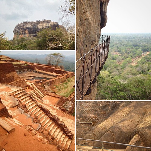 We climbed to the top of #Sigiriya #lion #rock #Dambulla #srilanka @guefelly #layout