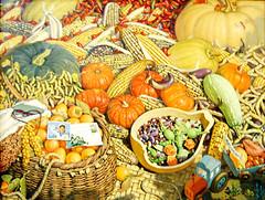 L'abondance de l'automne - Mun Jong Chol - Peinture à l'huile (nokoredstar) Tags: aquarelle peinture coréedunord pyongyang paysage broderie