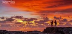 First Light Fishermen (Beth Wode Photography) Tags: sunrise dawn morning sunriseclouds orangeclouds firstlight fishing fishermen snapperrocks goldcoast beth wode bethwode seascape