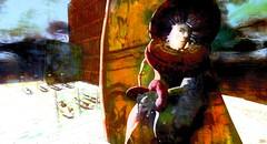 Gate keeper / Artist : Haveit Neox (Bamboo Barnes - Artist.Com) Tags: haveitneox baroquedreams kultivatemagazine surreal man hat cape white yellow blue green red black gondola boat vivid light shadow virtualart digitalart photo painting art bamboobarnes