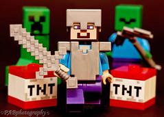 Minecraft Zombie Chase (PABaileyYork Photos) Tags: lego legomoviescene legofilmscene legography legoscene legoskeleton toys minecraft legominecraft zombies legozombies tnt legotnt sword legosword