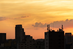 End of the day in the metropolis (MFMarcelo) Tags: sopaulo brasil sunset metropolis city cloud weather light shadow buildings canon eos 5diii ef70200mm