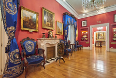 Salita - Museo del Romanticismo (neoBIT) Tags: accessory armchair clock curtains fireplace fan furniture interior mirror lithophane livingroom painting porcelain romantic showcase silk smallobjects tapestries wife madrid spain chueca museodelromanticismo