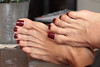 Pepper (IPMT) Tags: toenail sexy toes polish foot feet pedicure painted toenails pedi barefoot zoya barefeet pepper descalza brick red cream marsala shade peter som