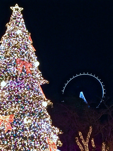 Christmas tree and a ferris wheel