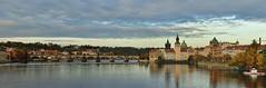 Prague - Charles Bridge Panorama, CZ (Andr-DD) Tags: prague prag praha tschechischerepublik czechrepublic moldau river flus wasser water brcke bridge karlsbrcke karlvmost charlesbridge wolken himmel clouds